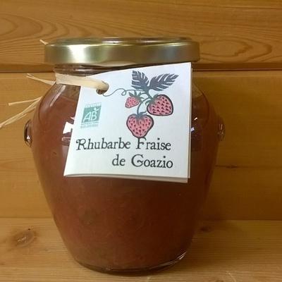 Confiture fraise et rhubarbe : Ferme du Goazio