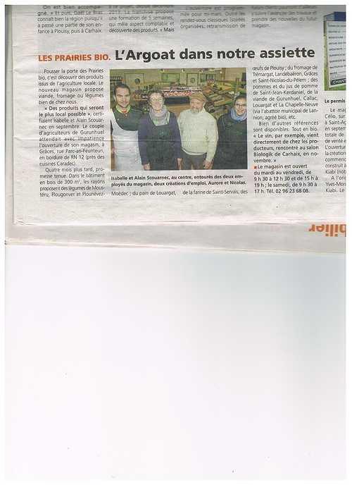 Du bio, local dans notre assiette - Magasin de producteurs à Guingamp lechodu04.02.15